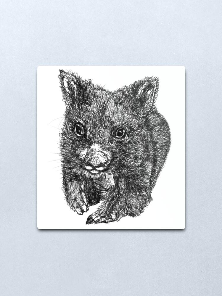 Alternate view of Bill the Baby Wombat Metal Print