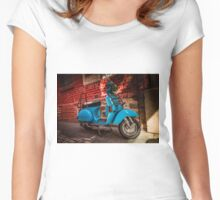 Vespa in Adelaide laneways Women's Fitted Scoop T-Shirt
