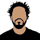 J Cole Minimalistic Cartoon by Hitoven