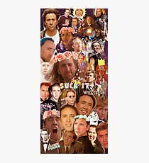 Nic Cage Collage Photographic Print
