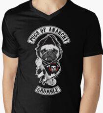 Möpse der Anarchie T-Shirt mit V-Ausschnitt