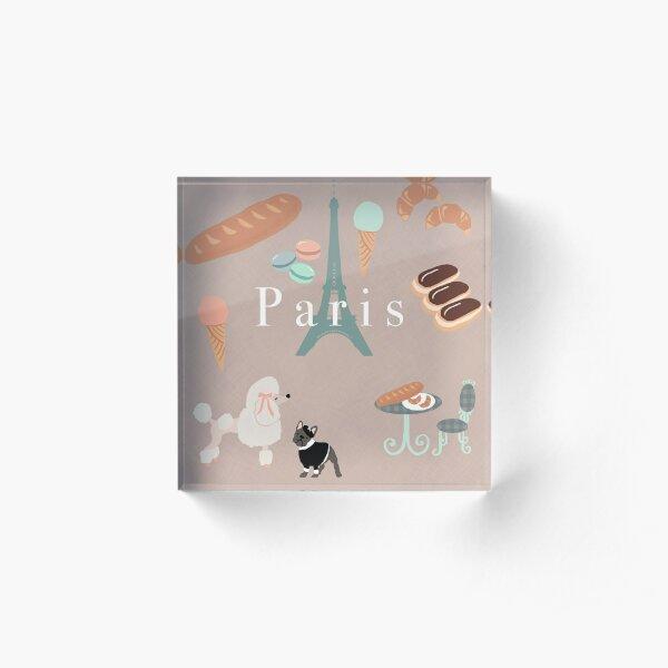 Paris Pups Acrylic Block