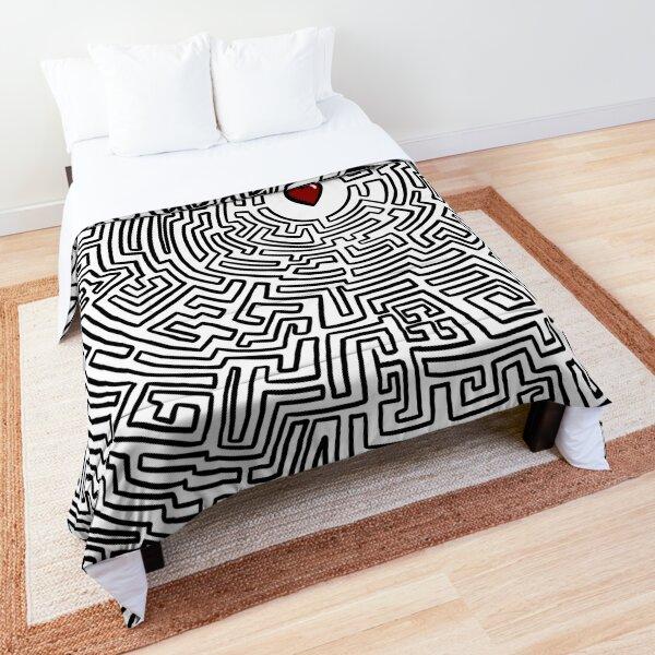 Maze Heart Comforter