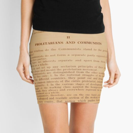 Proletarians and Communists Mini Skirt
