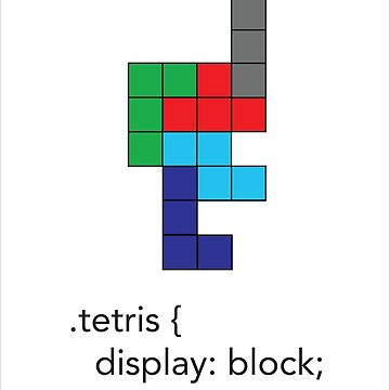 Tetris - Geek Chic by uniqueprints