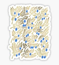 Olive Branches – Gold & Blue Sticker