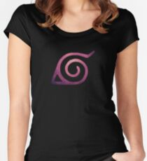 hidden leaf Women's Fitted Scoop T-Shirt