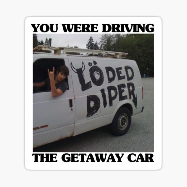 Rodrick Heffley Loded Diper x Taylor Swift Getaway Car [Movie] Sticker