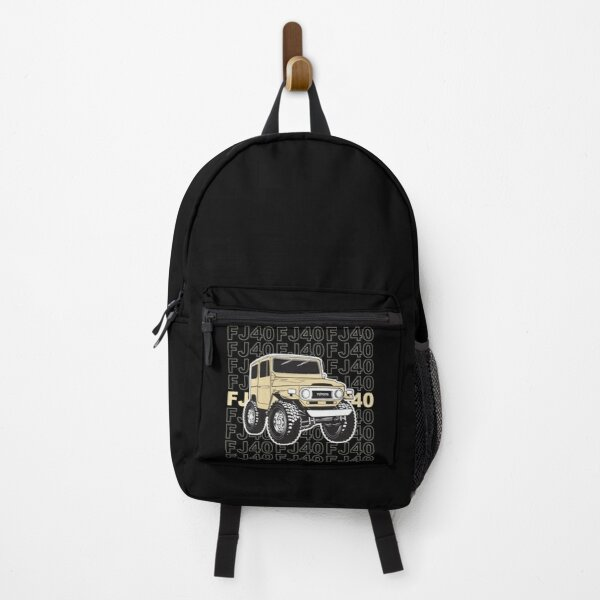 Toyota Landcruiser with stacked FJ40 in Tan Backpack