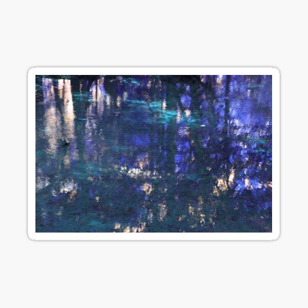 Purple Impressionist Design Sticker