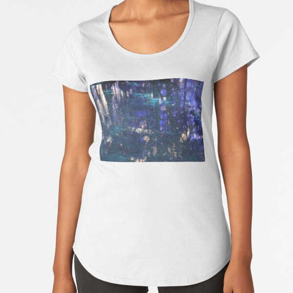 Purple Impressionist Design Premium Scoop T-Shirt