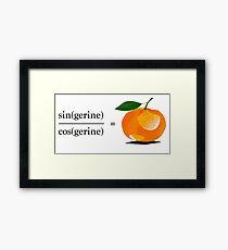 Maths Geek Joke - Tangerine Framed Print