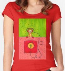 Robot Farm:  Volume Control Women's Fitted Scoop T-Shirt