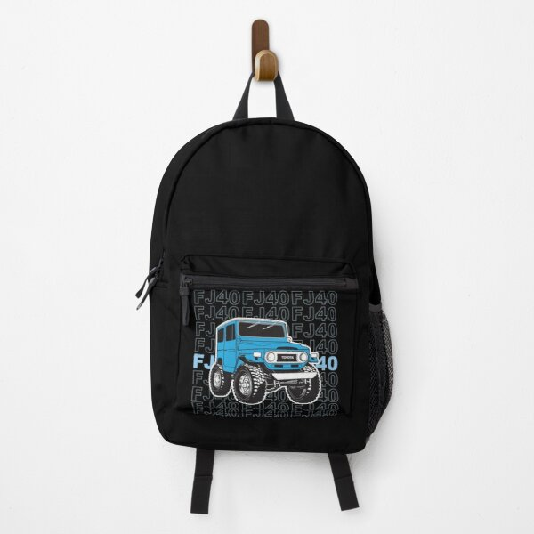 Toyota Landcruiser FJ40 in blue stacked Backpack