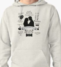 """Captain Swan """"Iconic Quotes"""" Silhouette Design  Pullover Hoodie"""