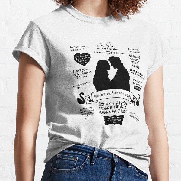 "Captain Swan ""Iconic Quotes"" Silhouette Design  Classic T-Shirt"