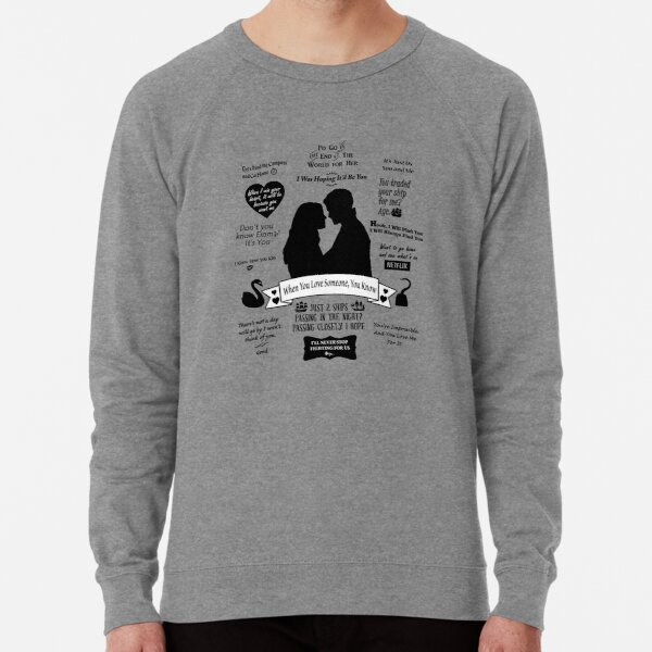 "Captain Swan ""Iconic Quotes"" Silhouette Design  Lightweight Sweatshirt"