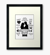 """Captain Swan """"Iconic Quotes"""" Silhouette Design  Framed Print"""