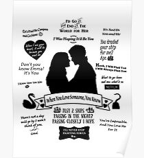 "Captain Swan ""Iconic Quotes"" Silhouette Design  Poster"