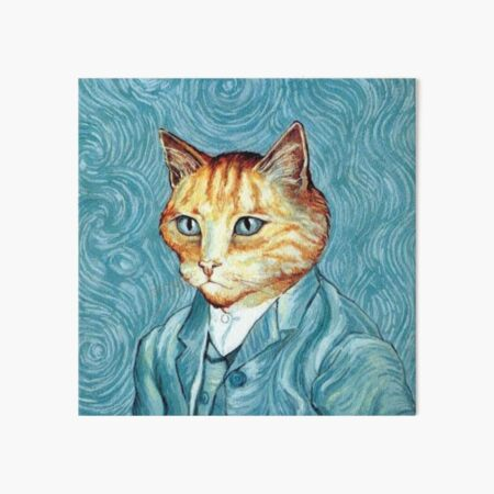 Vincent Van Cat Self-Portrait  Art Board Print
