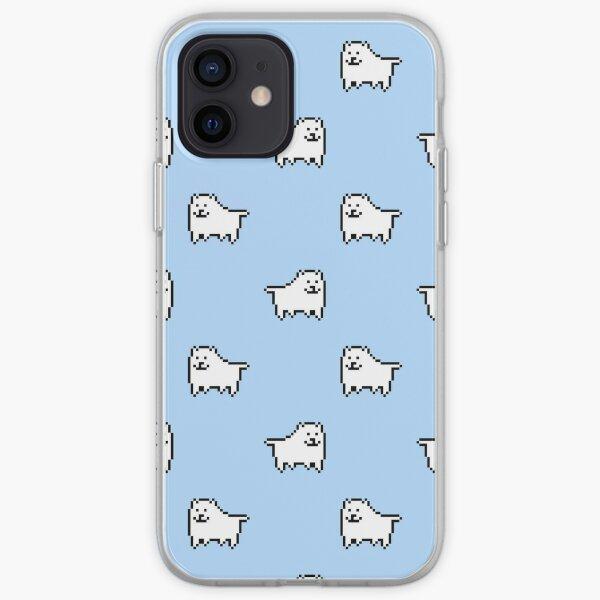 Undertale Annoying Dog - Pastel Blue iPhone Soft Case