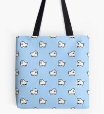 Undertale Annoying Dog - Pastel Blue Tote Bag