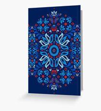 Folk Floral Tale Greeting Card
