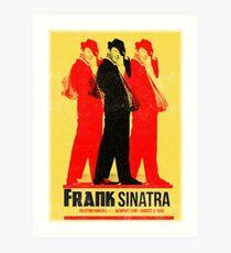Frank Sinatra Letterpress Poster Art Print