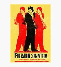 Frank Sinatra Letterpress Poster Photographic Print