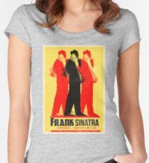 Frank Sinatra Letterpress Poster Women's Fitted Scoop T-Shirt