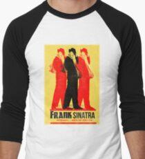 Frank Sinatra Letterpress Poster Men's Baseball ¾ T-Shirt