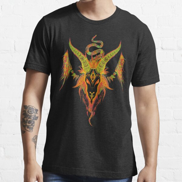 Baphomet psychedelic design amazing art Essential T-Shirt