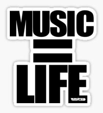 VURSAFIED - MUSIC = LIFE (BLACK) Sticker