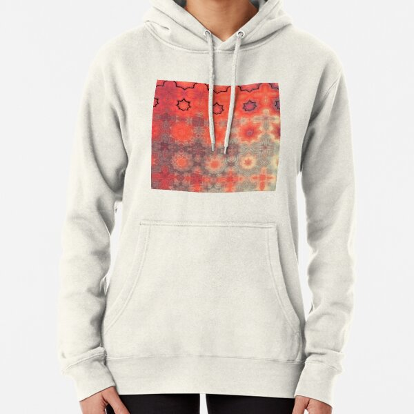Red Sunrise Abstract  Pullover Hoodie