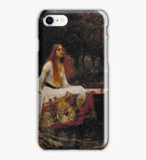 John William Waterhouse - The Lady of Shalott 1888 . Woman Portrait  iPhone Case/Skin