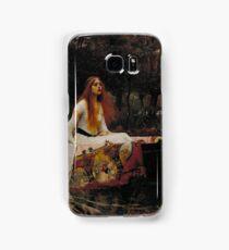 John William Waterhouse - The Lady of Shalott 1888 . Woman Portrait  Samsung Galaxy Case/Skin