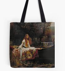 John William Waterhouse - The Lady of Shalott 1888 . Woman Portrait  Tote Bag