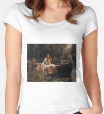 John William Waterhouse - The Lady of Shalott 1888 . Woman Portrait  Women's Fitted Scoop T-Shirt