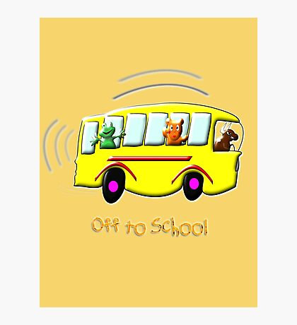 Off to School drawstring bag, etc. design Photographic Print