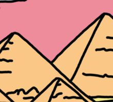 Pyramid X-filies Egyptian alien ufo desert sphynx 90s retro 80s print Sticker