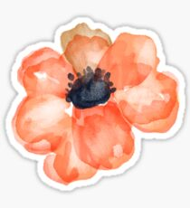 Watercolor Flower Salmon Sticker