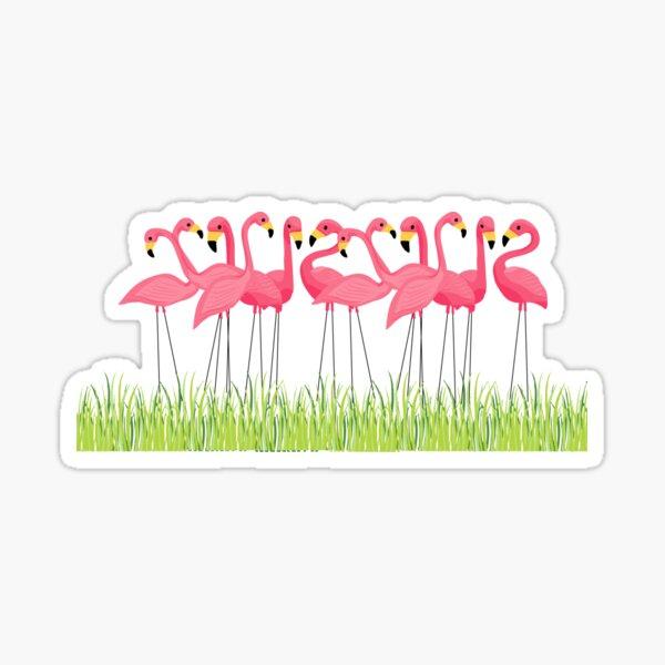 Pink Flamingos Illustration Sticker