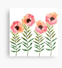 Watercolor Flower Metal Print