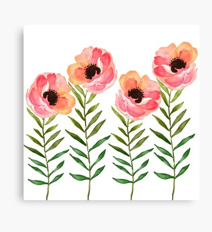Watercolor Flower Canvas Print