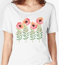 Watercolor Flower Women's Relaxed Fit T-Shirt