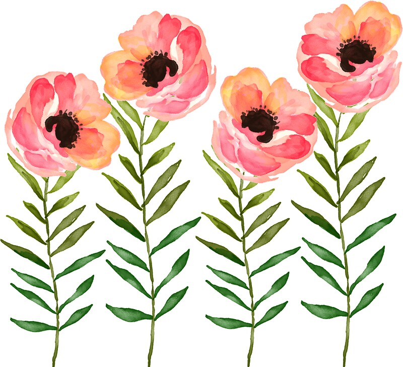"""Watercolor Flower"" Stickers by junkydotcom"