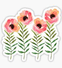 Pegatina Flor de acuarela