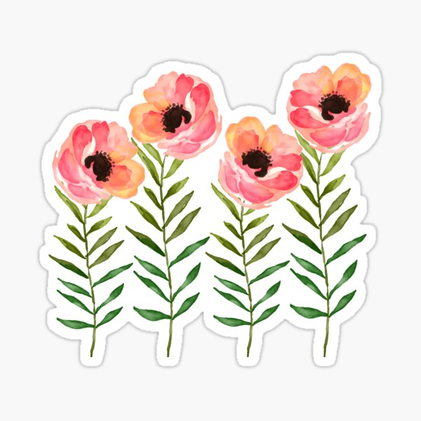 Burton Flowers Sticker Decal
