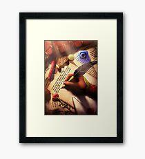 The Writer (Digital Illustration) Framed Print