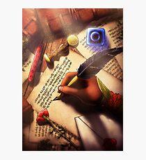 The Writer (Digital Illustration) Photographic Print
